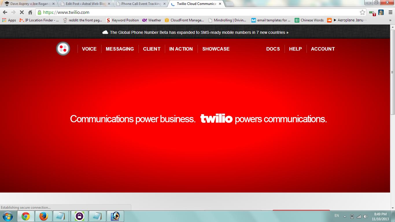 twilio電話