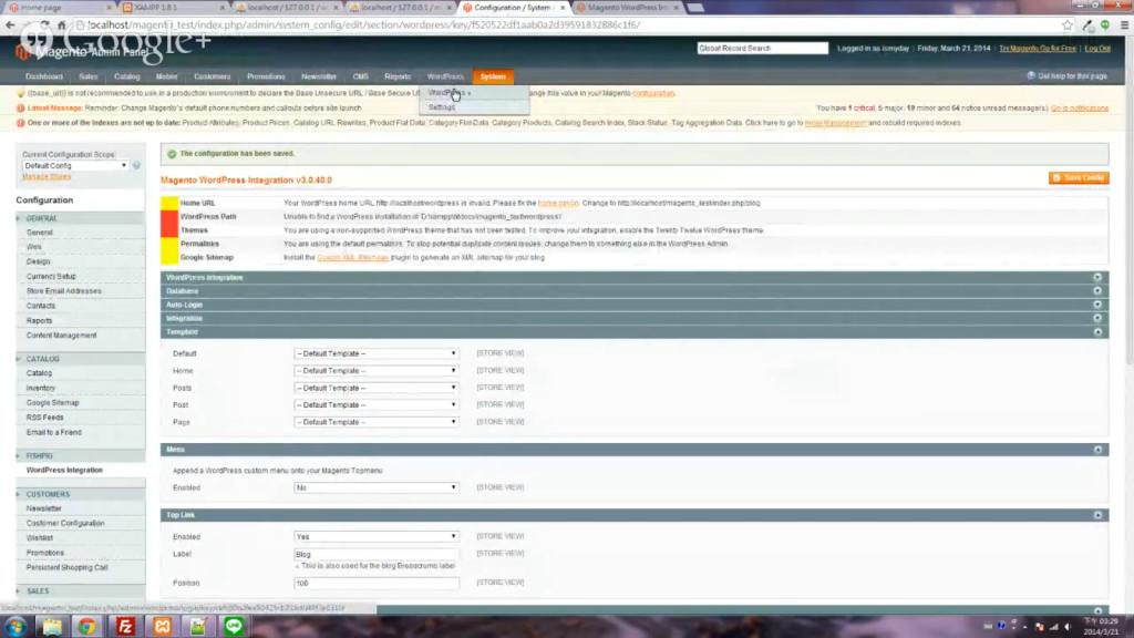 Wordpress整合Magento教學