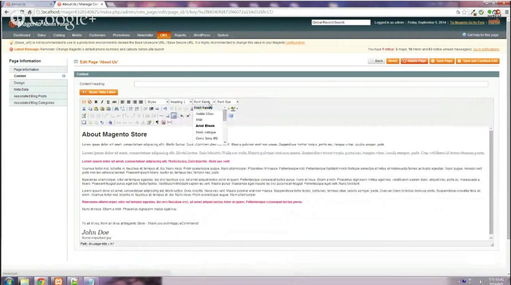 Magento教學:新增字型