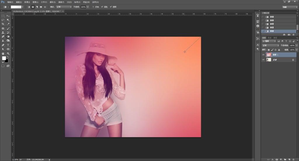 Photoshop教學-後製燈光效果