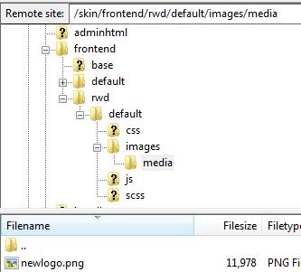 Magento更換logo教學-換檔案