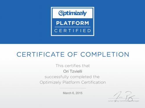 賀!歐斯瑞公司通過A/B測試平台Optimizely認證!