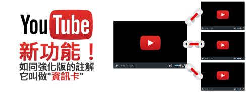 """[教學]YouTube新功能!如同強化版的註解它叫做""""資訊卡"""""""