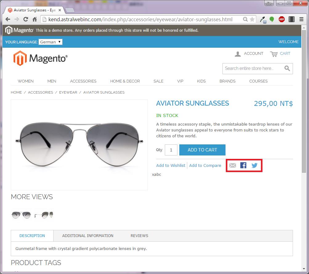優化Magento社群分享功能