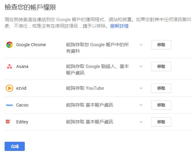 google帳戶安全性