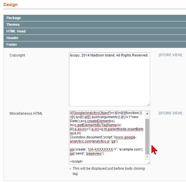 Magento加上Google Analytics
