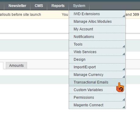 步驟一 Magento: 如何自訂交易郵件的Header及Footer