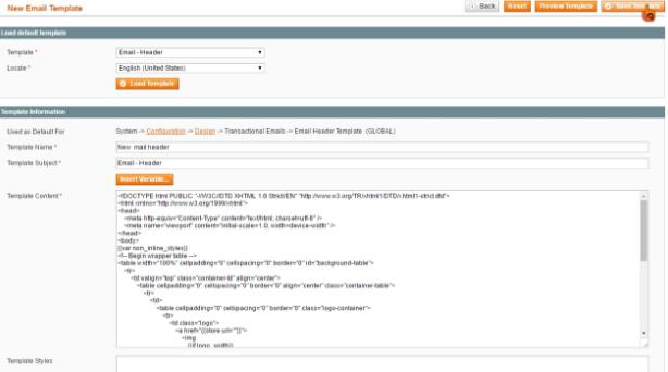 步驟四 Magento: 如何自訂交易郵件的Header及Footer