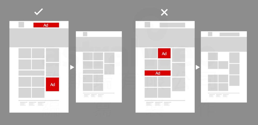 網頁設計樣板-留空
