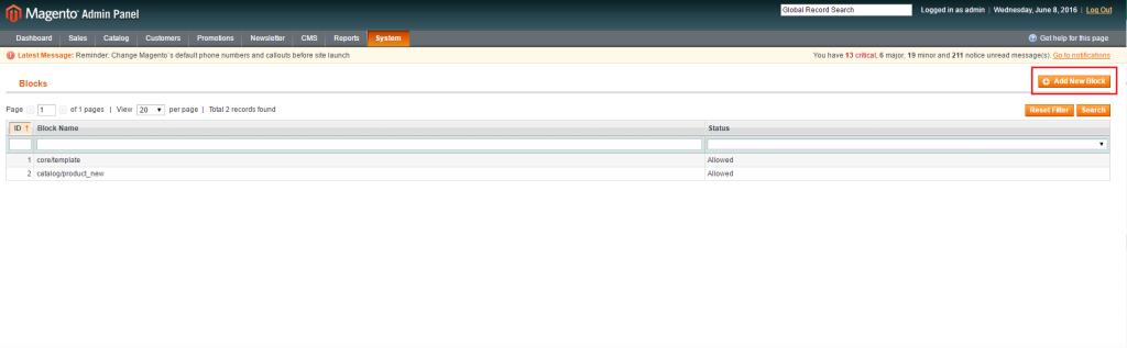 步驟四-Magento CMS Page 與 CMS Block 中的內容無法正常顯示