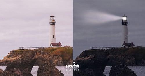 文章標題圖-Photoshop教學:【基礎篇】製作燈塔投射光效果