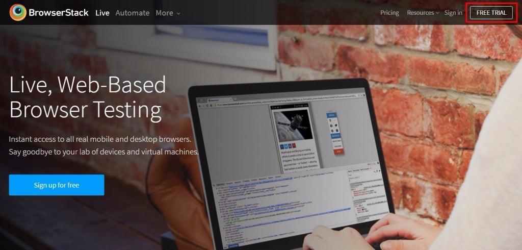 BrowserStack 測試工具