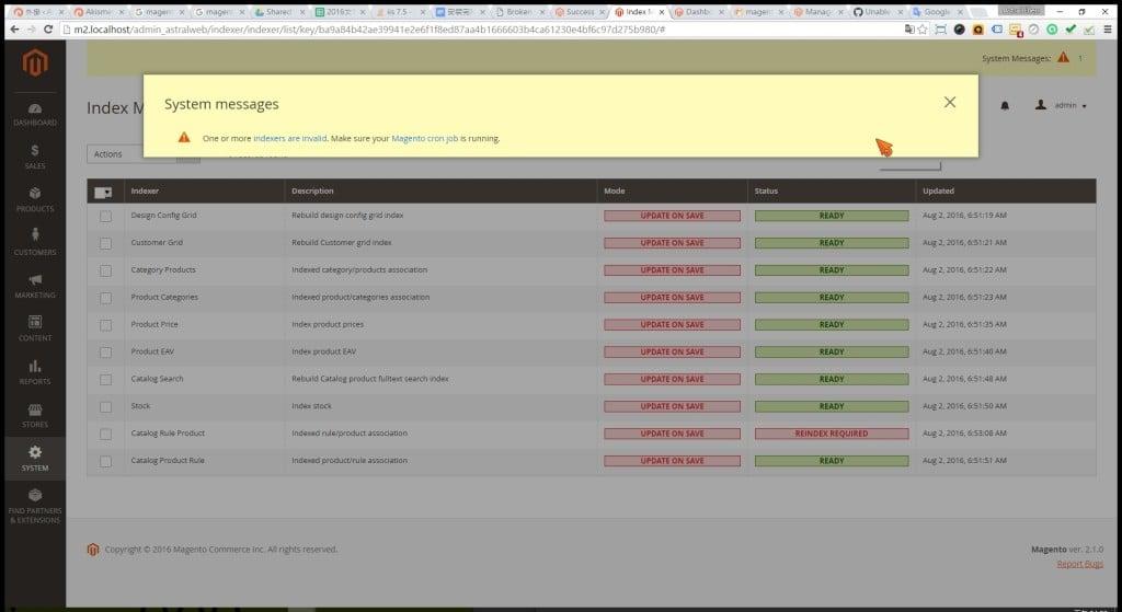 步驟一-如何在Magento 2 執行Reindex