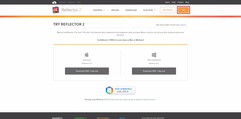Wireless projection vs Reflector 2-17