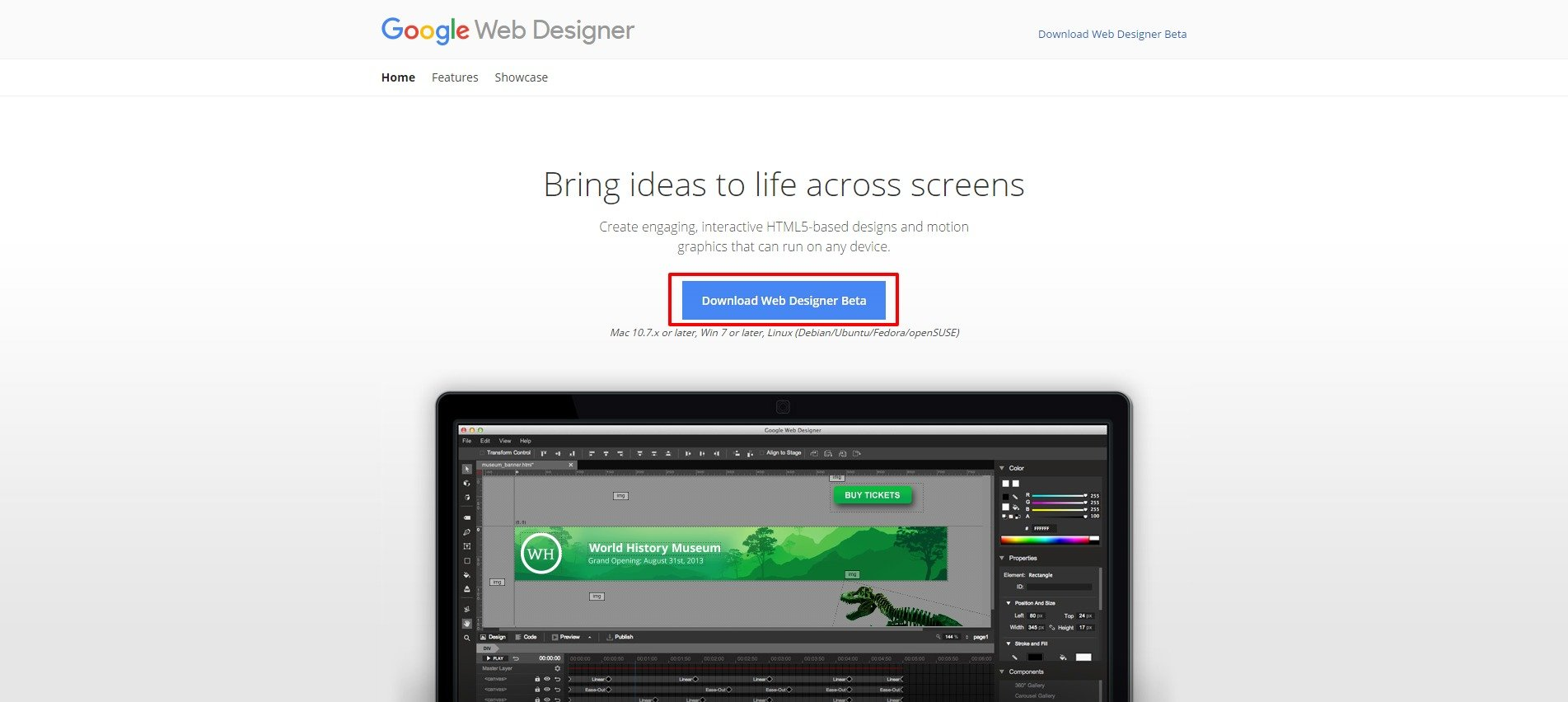 Download Web Designer Beta