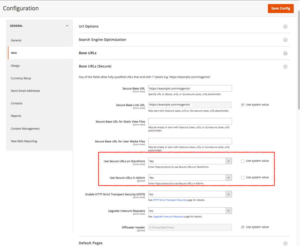 Enabling SSL for Magento (2)