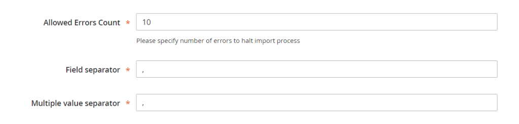 Magento2 import export products, customer information (5)