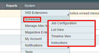 Magento schedule