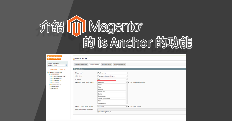 Magento 1.9版 is Anchor 功能