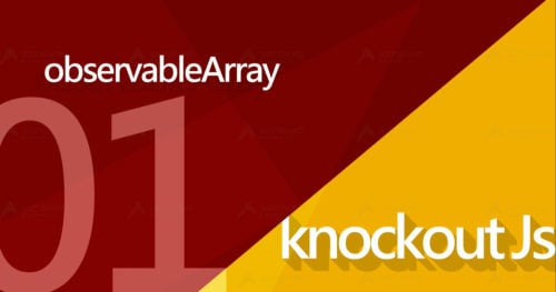 KnockoutJs系列中的observableArray