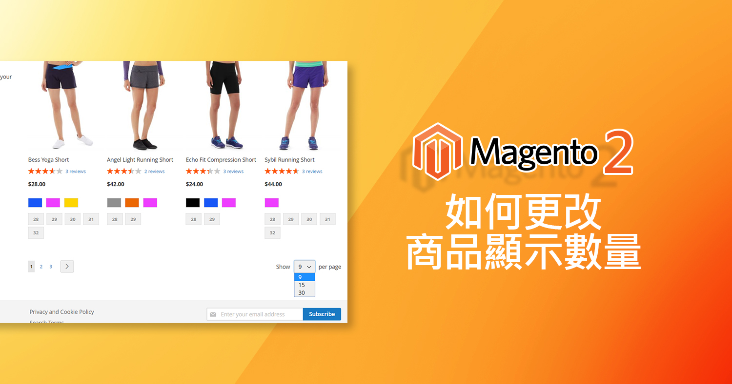 how to change the number of items on magento 2