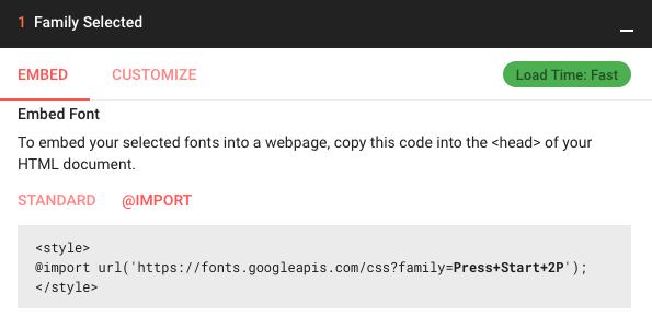Google Fonts下載代替嵌入 01