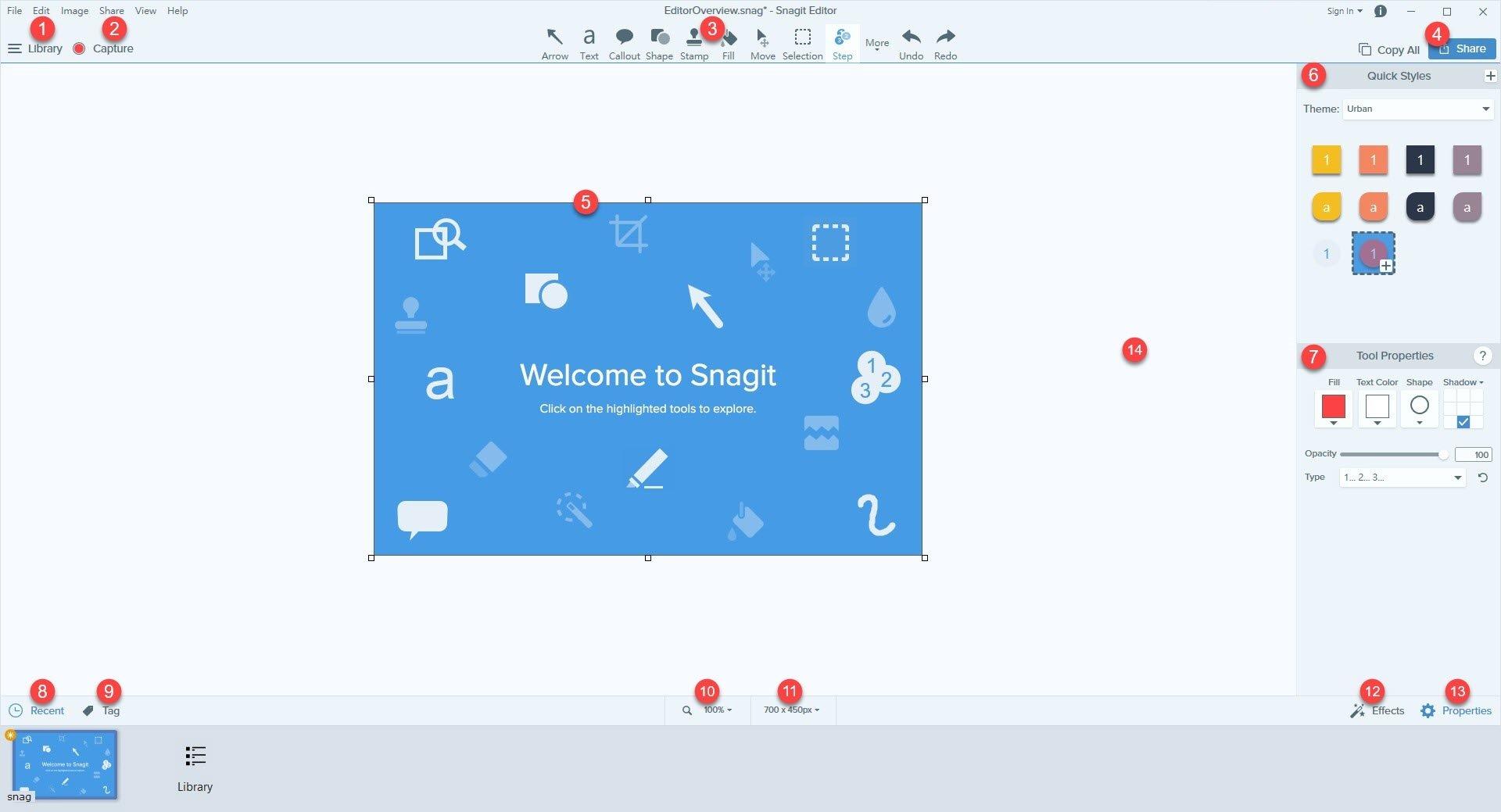 螢幕截圖工具Snagit 14