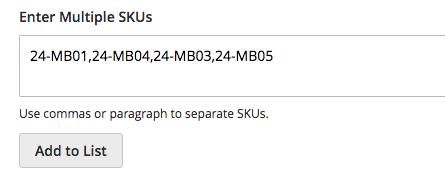 Enter Multiple SKUs